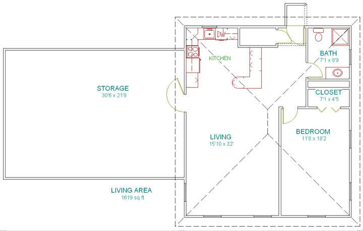 Garage/Shop Plan - Dream Green Home Plans